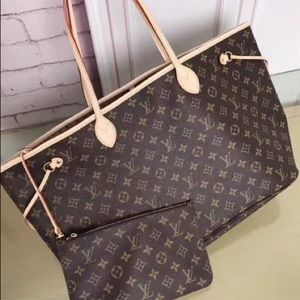 łNew Louis Vuitton r Neverfull Handbag Purse MMù